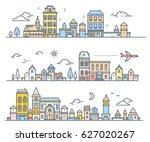 three variation of urban...   Shutterstock .eps vector #627020267