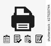 print icon stock vector...   Shutterstock .eps vector #627020744