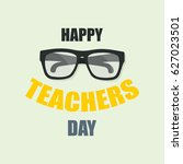 happy teachers day  poster or... | Shutterstock .eps vector #627023501