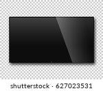 tv on isolate background ... | Shutterstock .eps vector #627023531
