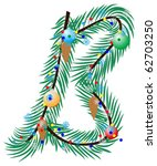 b  letter. made of a christmas... | Shutterstock .eps vector #62703250