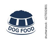 vector dog food label with... | Shutterstock .eps vector #627032801