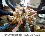 craft beer booze brew alcohol... | Shutterstock . vector #627037121