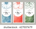vector set of templates... | Shutterstock .eps vector #627037679