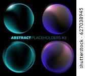 vector dark abstract background.... | Shutterstock .eps vector #627038945