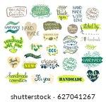set of handmade  craft and art... | Shutterstock .eps vector #627041267