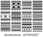 set of seamless vector... | Shutterstock .eps vector #627041357