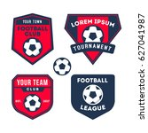 football and soccer logo badge... | Shutterstock .eps vector #627041987