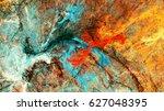 bright artistic splashes.... | Shutterstock . vector #627048395