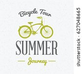 summer holidays poster. bicycle ... | Shutterstock .eps vector #627048665