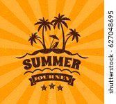 summer holidays poster.... | Shutterstock .eps vector #627048695