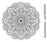 vector mandala with abstract... | Shutterstock .eps vector #627049205