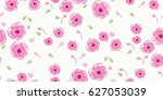 seamless floral pattern in... | Shutterstock .eps vector #627053039