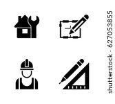 foreman equipment. simple... | Shutterstock .eps vector #627053855