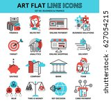 modern flat editable line... | Shutterstock .eps vector #627054215