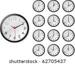vector illustration of twelve... | Shutterstock .eps vector #62705437