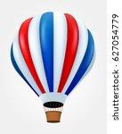 hot air ballon in flight...   Shutterstock .eps vector #627054779