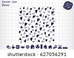 valentine's day background with ... | Shutterstock .eps vector #627056291