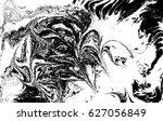 black and white liquid texture  ... | Shutterstock .eps vector #627056849