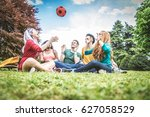 group of multicultural people... | Shutterstock . vector #627058529