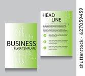 vector brochure flyer design... | Shutterstock .eps vector #627059459