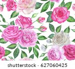 seamless floral pattern with... | Shutterstock . vector #627060425