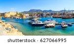 boats in a port in kyrenia ... | Shutterstock . vector #627066995
