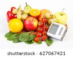 blood pressure monitor and... | Shutterstock . vector #627067421