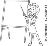 lecturer | Shutterstock .eps vector #627068465