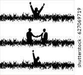 people shaking hands. poster | Shutterstock .eps vector #627069719