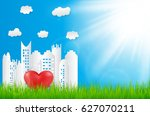 nature ecology background... | Shutterstock .eps vector #627070211