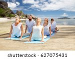 fitness  sport  yoga and... | Shutterstock . vector #627075431