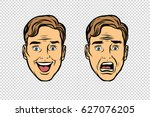 two men face the emotions of... | Shutterstock .eps vector #627076205