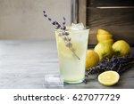 lemonade with lemons and... | Shutterstock . vector #627077729