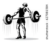 weightlifting. sport... | Shutterstock .eps vector #627081584