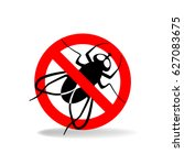 anti fly vector simple sign for ... | Shutterstock .eps vector #627083675