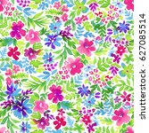 seamless ditsy floral pattern.  ... | Shutterstock . vector #627085514