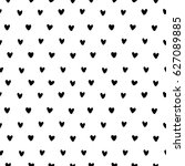 hand drawn doodle small black... | Shutterstock .eps vector #627089885