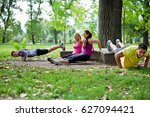 group of people doing a outdoor ... | Shutterstock . vector #627094421