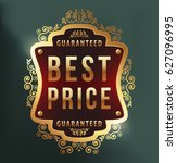 high quality luxury label on... | Shutterstock .eps vector #627096995