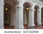 raffles hotel  singapore ... | Shutterstock . vector #627102404