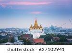 golden mountain or wat sraket... | Shutterstock . vector #627102941