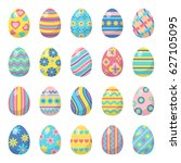 easter eggs for easter holidays ... | Shutterstock . vector #627105095
