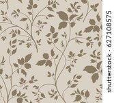 floral seamless pattern. branch ... | Shutterstock .eps vector #627108575