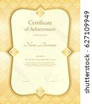 certificate of appreciation... | Shutterstock .eps vector #627109949