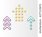 set of three abstract arrows... | Shutterstock .eps vector #627113651