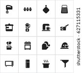 set of 16 editable cook icons....   Shutterstock .eps vector #627115331
