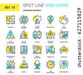vector set of corporate... | Shutterstock .eps vector #627115829