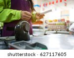 convenience store checkout | Shutterstock . vector #627117605