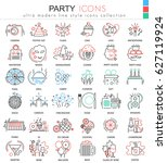 party disco ultra modern... | Shutterstock . vector #627119924
